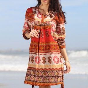 Vibrant Boho Dress, Indie, Festival